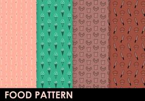 Free Food Pattern Vektor