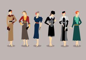 Mode Stil 1930s Vektoren