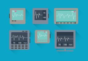 EKG Maschinenvektoren