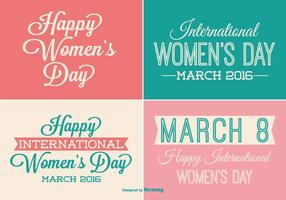 Women's Day Label Set