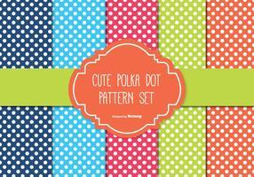 Polka dot mönster set vektor