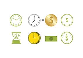 Freie Zeit ist Geld Vektor