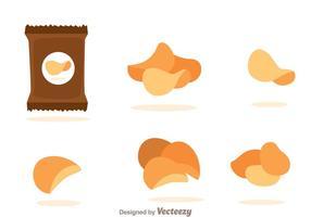 Kartoffelchips Vektoren