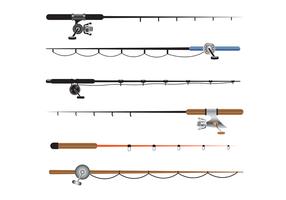 Gratis Fiske Rod Vector