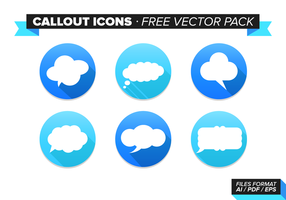 Callout Icons kostenlos Vektor Pack