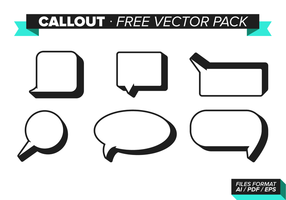 Callout Gratis Vector Pack