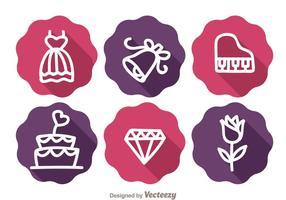 Hochzeit Lange Schatten Icons