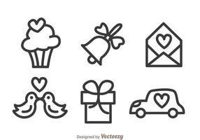 Hochzeit Outline Icons