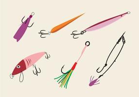 Olika Fish Hooks Vector Set