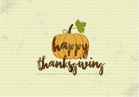 Free Happy Thanksgiving Kürbis Vektor