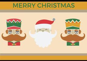 Free Nussknacker Santa Vektor