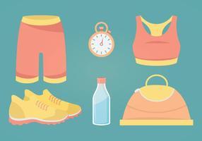 Fitness Tillbehör Vektor Illustration