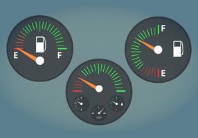 Kraftstoffanzeige Vektor-Illustration