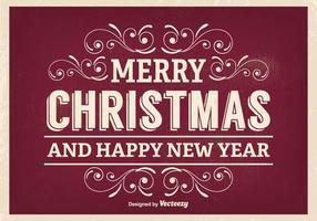 Retro Weihnachten Gruß Illustration