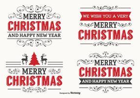 Schönes Weihnachts-Label-Set vektor