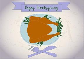 Gratis Thanksgiving Meal Vector
