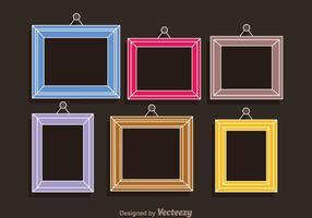 Bunte Rahmen-Foto-Collagen-Schablone vektor