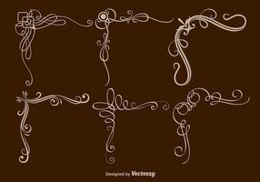 Scrollwork-hörnvektorer vektor