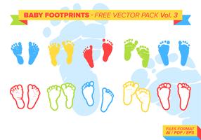 Baby Footprints Gratis Vector Pack Vol. 3