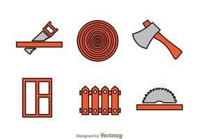 Holzarbeiten Icons vektor