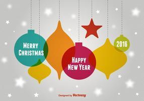 Weihnachten Sphären Ornamente vektor