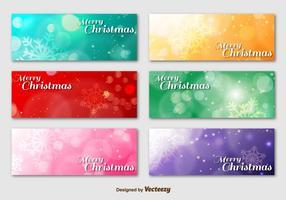 Frohe Weihnachten Hintergrund Banner vektor