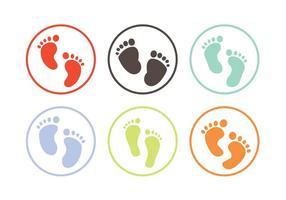 Baby fotavtryck vektor