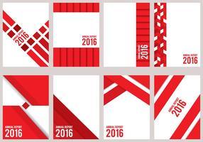 Röd årlig rapport design