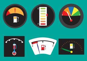 Vektor uppsättning bränslemätare