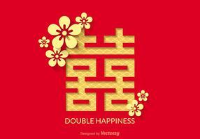 Gratis Double Happiness Vector Design