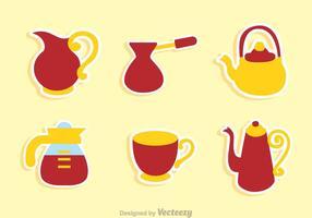 Kaffee-Topf und Cup-Sets vektor