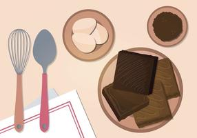 Brownies Vektorillustration