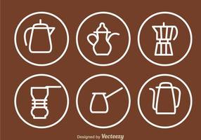 Kaffeekanne Umriss Ikonen vektor