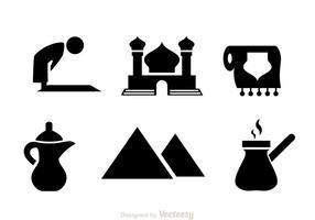 Arabische schwarze Ikonen vektor