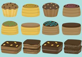 Brownies och kakor vektor