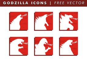 Godzilla Icons kostenloser Vektor