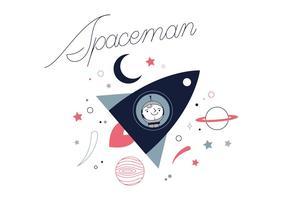 Freier Spaceman Vektor
