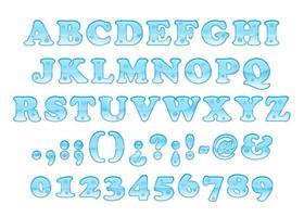 Bold Water Schriftart vektor