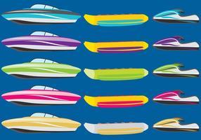 Båtar och jetskidor vektor