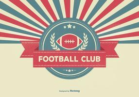 Retro Sunburst Style Fotbollsklubb Illustration