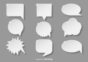Weiße Callout-Sammlung vektor