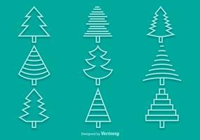 Line Pine Icons vektor