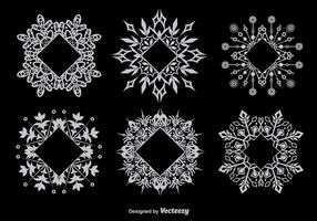 Dekorative schneeflockenförmige Rahmen vektor