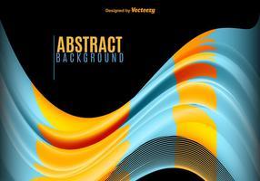 Blå och gula abstrakta vågor vektor