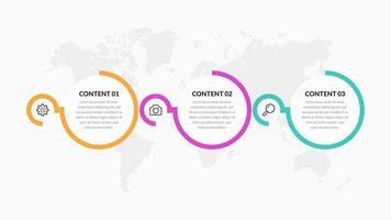 färgglada runda infographic element med ikoner