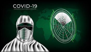 skyddskläder för att skydda mot coronavirus 2019- ncov. vektor