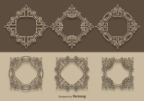 Vektor scrollwork samling