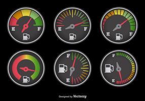 Kraftstoffanzeige mit Farben vektor