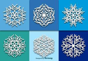 Weiße Schneeflocken vektor