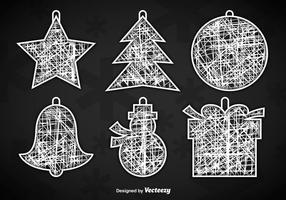 Weiße Weihnachtsbügel vektor